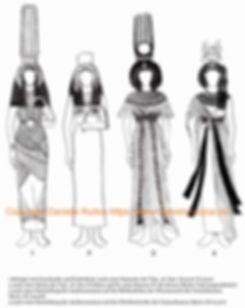 Kleider von Königinnen aus dem Neuen Reich