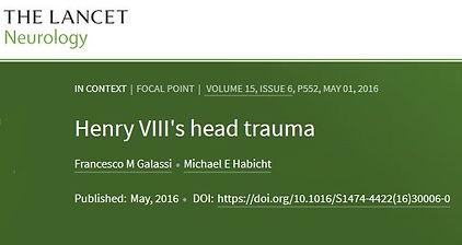 Lancet Henry VIII head trauma