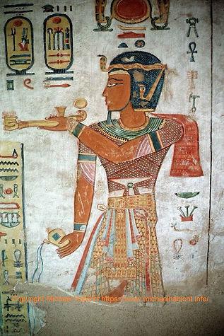Ramses III im Grab QV44 Chaemwese