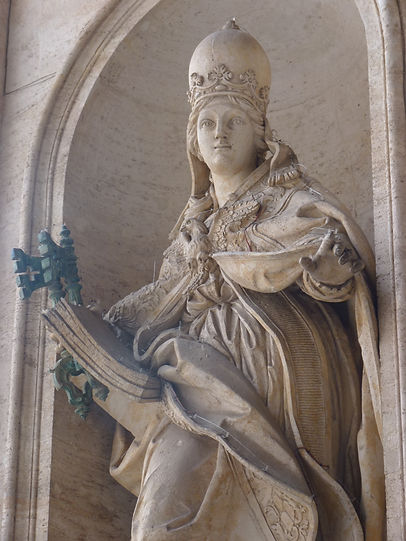 Vatican Statue of the female Pope Joan or Personification of the Church?