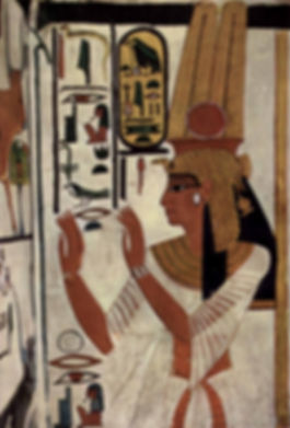 Nefertai wall painting in her tomb QV 66