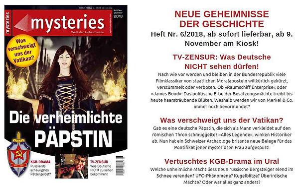 Mysteries Magazin 2018_11_Päpstin_Johann