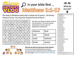 Matthews Vlog Activity Sheets Wk1 (26 Ju