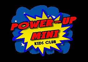 Power-Up Mini Moon & Space Basic Logo (W
