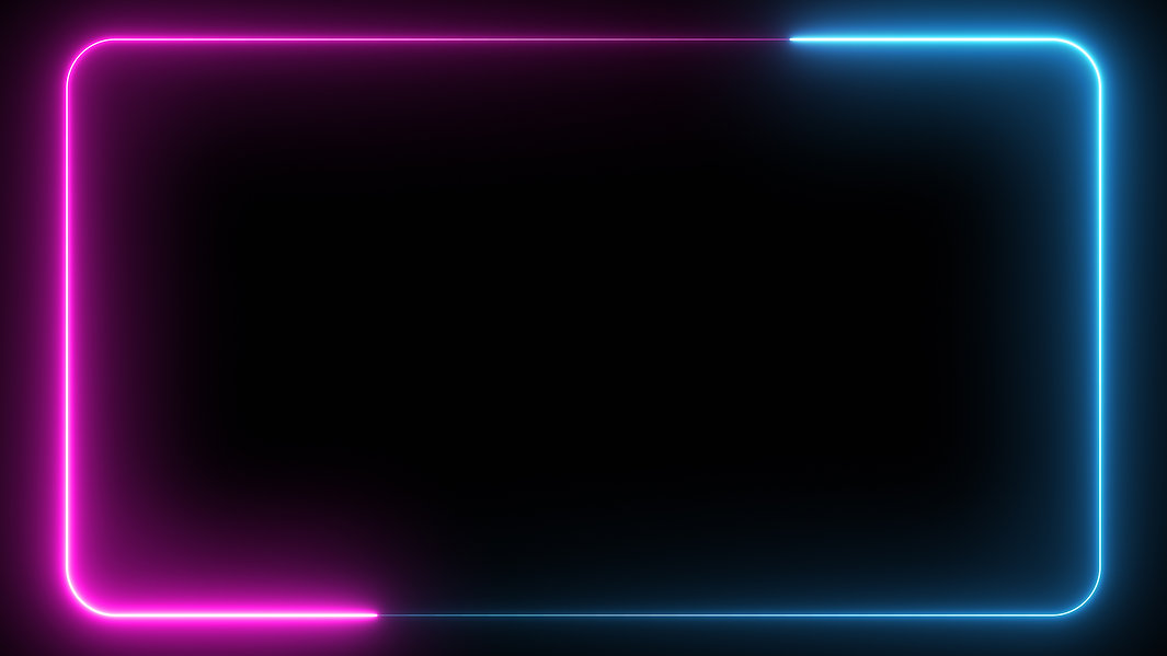 Abstract 3D Illustration Neon Glowing Fr