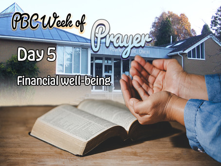 Day 5: FINANCIAL WELL-BEING