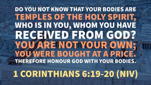 1 Corinthians 6:19-20 (NIV)