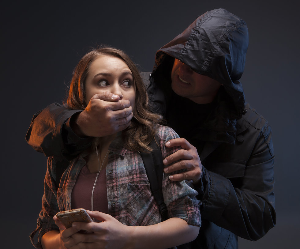 FEMALE SELF DEFENSE SERIES- Teenage Girl on a cell phone gets attacked by a stranger. He h