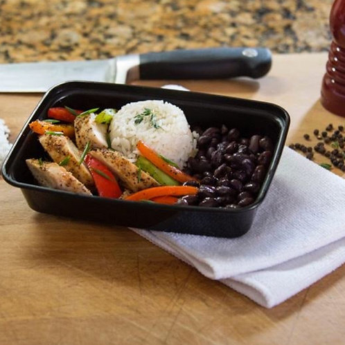#18 - CHICKEN FAJITAS W/ RICE & BLACK BEANS