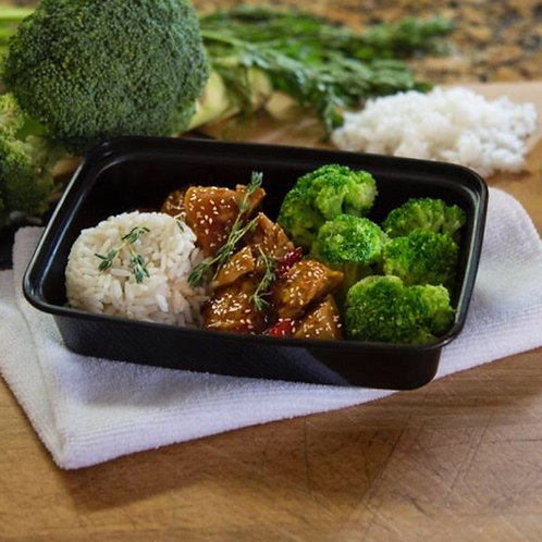 #11 - SESAME CHICKEN W/ RICE & BROCCOLI
