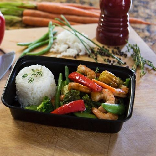 #9 - ASIAN GRILLED SHRIMP W/ RICE
