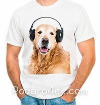 Печать фото на мужской белой футболке