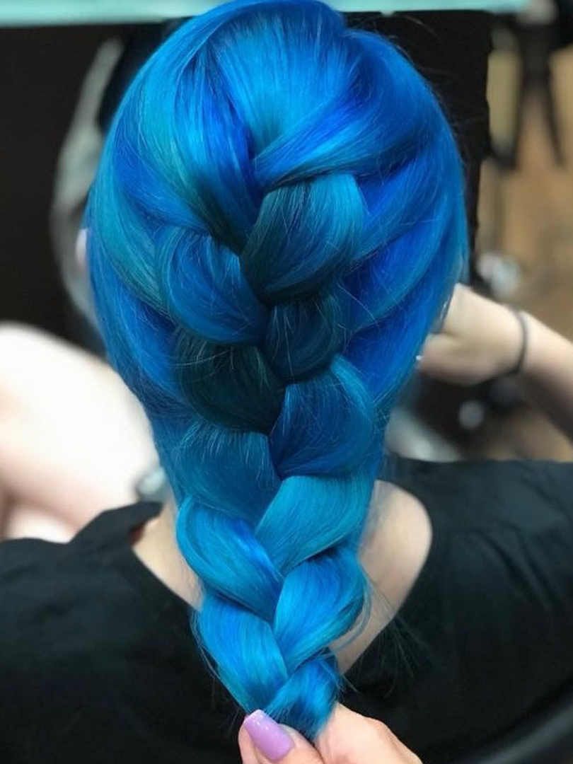 Ocean Blue Hair By Jen D