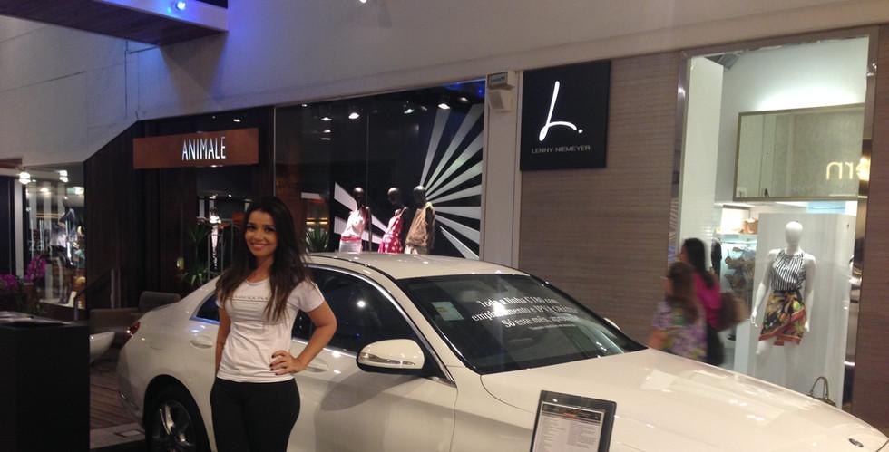 Ação promocional Mercedes Patio Savassi