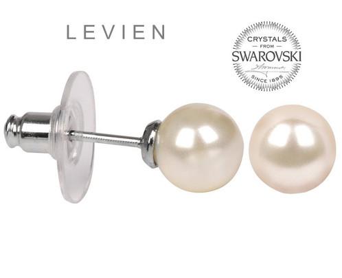 Boucle d'oreille swarovski perle