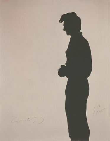 "Klaus Guingand artwork: ""Sean Penn's shadow"" 1991"