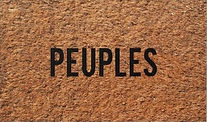Peuples- 2002 - Printed doormat 27,55 x 15,7 In. Klaus Guingand artwork
