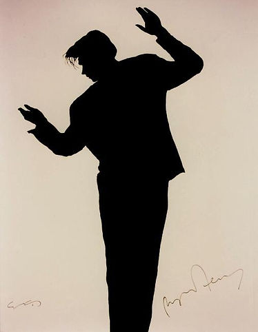 "Klaus Guingand Artwork ""Bryan Ferry's shadow"" - 1988"