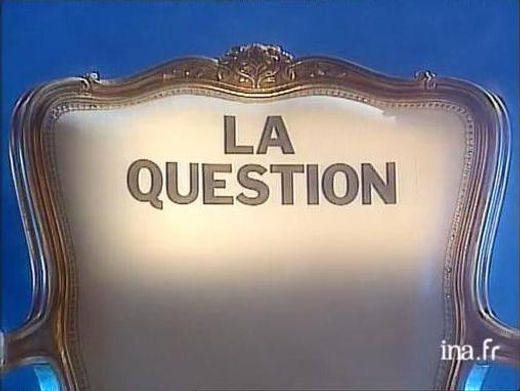 "Klaus Guingand Tv concept ""The question"" for the program ""Double Jeu"" by Thierry Ardisson of French channel France 2. 1992"