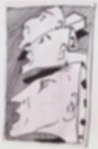 """Klaus Guingand drawing : """" Three brothers """" : 1980"""