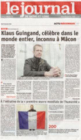 Klaus Guingand interview dans Le journal de Saône-et-Loire