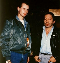 Klaus Guingand and Serge Gainsbourg - 1989