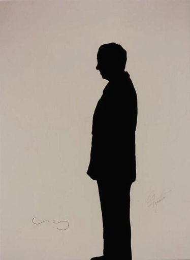 "Klaus Guingand Artwork ""Charles Aznavour's shadow"" - 1992"
