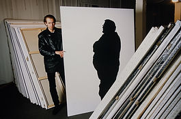 Klaus Guingand studio: Shadow  paintings  - 1994