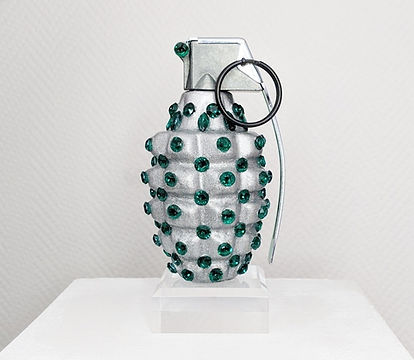 Klaus Guingand artwork, Mk2 with 133 Swarovski green