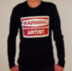 """Klaus Guingand T-shirt """"Warning Artist"""""""