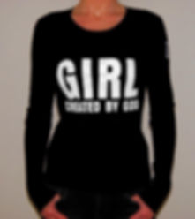 "Klaus Guingand T-shirt (woman) - ""Girl created by God"""