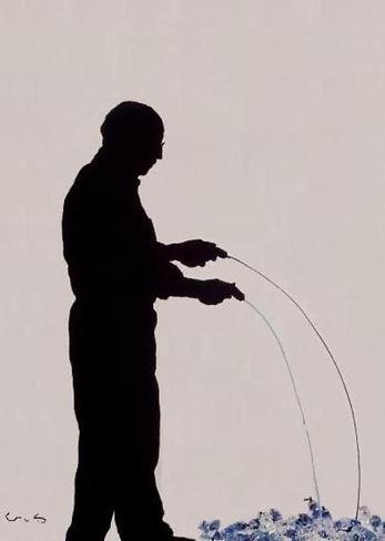 "Klaus Guingand Artwork ""Armanr's shadow"" - 1993. (+) Artwork done by Arman."