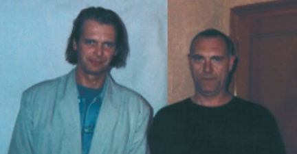 Klaus Guingand,and Sandro Chia -1995 - Rome - Italy