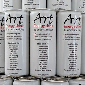 "klaus Guingand ""Art energy drink to understan contemporary art. First energy drink for the mind"""