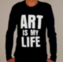 "Klaus Guingand T-shirt ""Art is my life"""