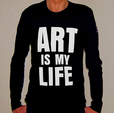 "Klaus Guingand T-shirt ""Art is my life"""