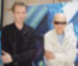 klaus Guingand et Jacques Monory en 2006 à Cachan dans son atelier.