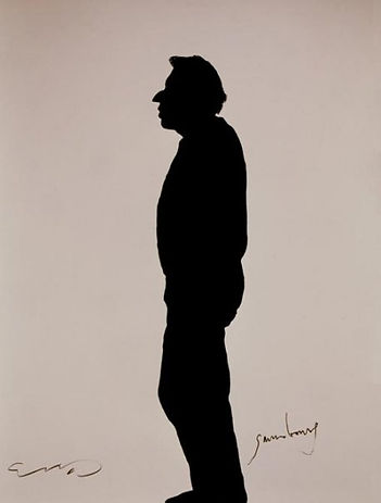 "​Klaus Guingand Artwork ""Serge Gainsbourg's shadow"" - 1989"