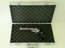 klaus Guingand artwork: Matthew 5.21- 2017. Gun box with Colt Pyhton 357 Magnum