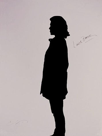 """Klaus Guingand Artwork """"Lauren Bacall's shadow"""" in 1994"""