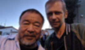 Ai Weiwei and klaus Guingand meet