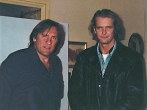 Gerard Depardieu and Klaus Guingand in1995