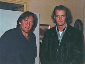 Gerard Depardieu and Klaus Guingand in1995