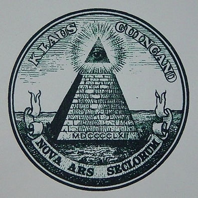 "Klaus Guingand artwork :""NOVA ARS SECLORUM"" : Drawing :1999"