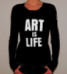 "Klaus Guingand T-shirt ""ART IS LIFE """