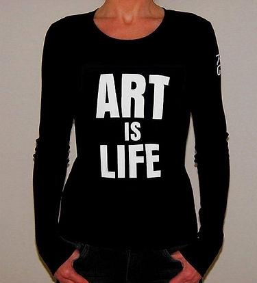 "Klaus Guingand T-shirt ""ART IS LIFE """
