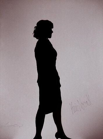 "Klaus Guingand Artwork ""Kim Novak's shadow"" - 1990"