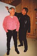 Yann Arthus-Bertrand pose for Klaus Guingand in 2002