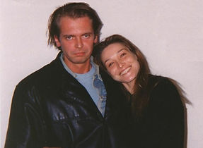 Klaus Guingand and Carla Bruni in 1994