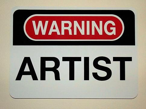 Klaus Guingand artwork: WARNING ARTIST.